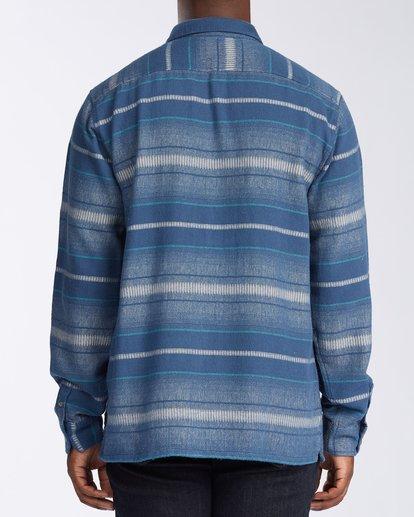 3 Offshore Long Sleeve Flannel Shirt Blue ABYWT00104 Billabong