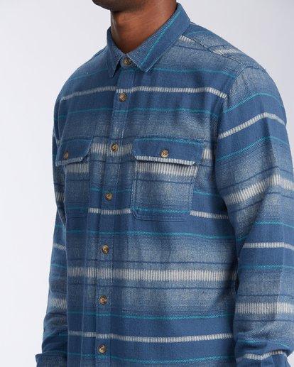 4 Offshore Long Sleeve Flannel Shirt Blue ABYWT00104 Billabong