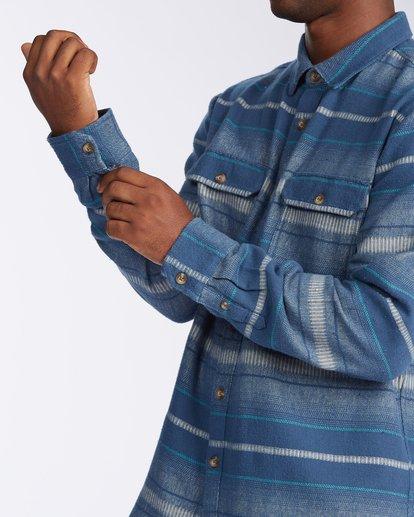 5 Offshore Long Sleeve Flannel Shirt Blue ABYWT00104 Billabong