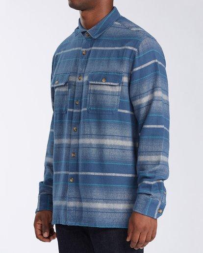1 Offshore Long Sleeve Flannel Shirt Blue ABYWT00104 Billabong