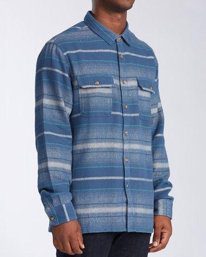 2 Offshore Long Sleeve Flannel Shirt Blue ABYWT00104 Billabong