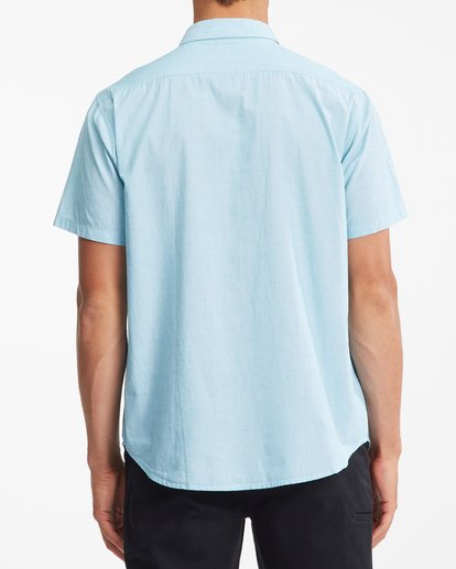 3 All Day Short Sleeve Shirt Blue ABYWT00110 Billabong