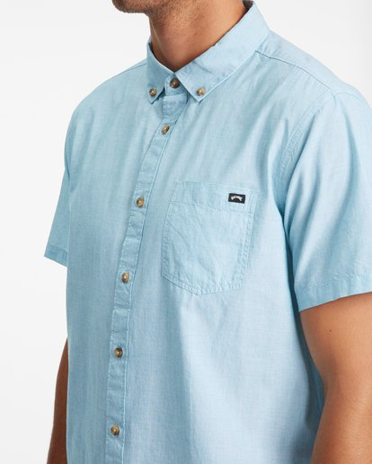 4 All Day Short Sleeve Shirt Blue ABYWT00110 Billabong