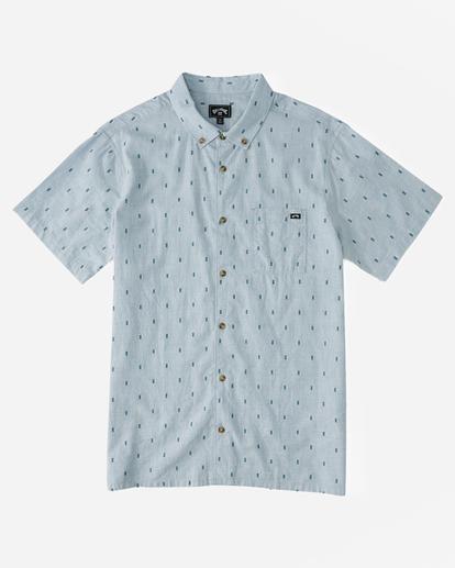 4 All Day Jacquard Shirt Blue ABYWT00111 Billabong