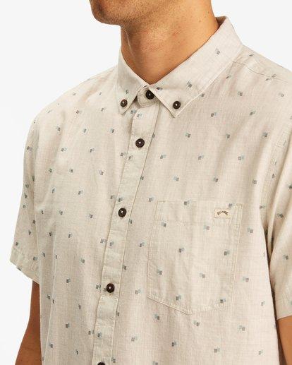 3 All Day Jacquard Shirt Beige ABYWT00111 Billabong