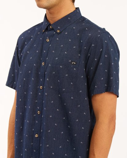 3 All Day Jacquard Shirt Blue ABYWT00111 Billabong
