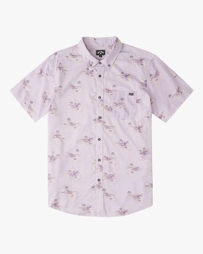 4 Sundays Mini Short Sleeve Shirt Purple ABYWT00112 Billabong