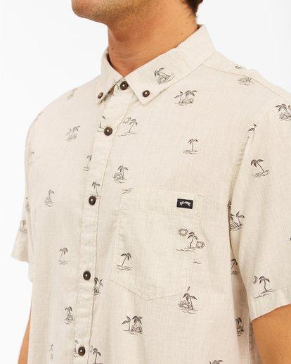 3 Sundays Mini Short Sleeve Shirt Beige ABYWT00112 Billabong