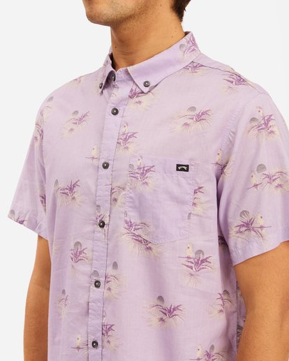 3 Sundays Mini Short Sleeve Shirt Purple ABYWT00112 Billabong