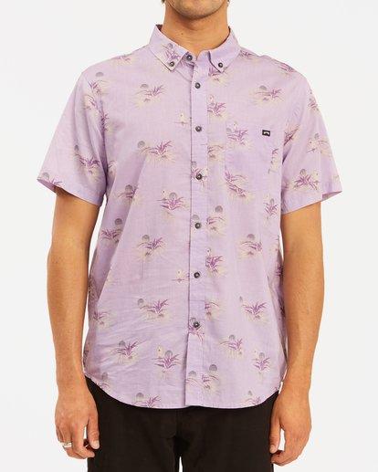 0 Sundays Mini Short Sleeve Shirt Purple ABYWT00112 Billabong