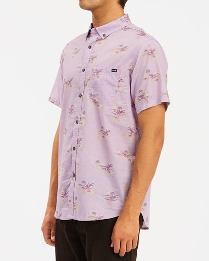 1 Sundays Mini Short Sleeve Shirt Purple ABYWT00112 Billabong