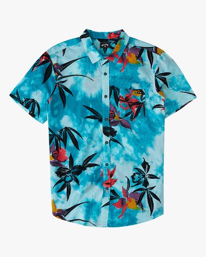 4 Sundays Floral Short Sleeve Shirt Blue ABYWT00113 Billabong