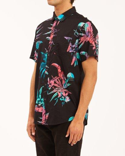 1 Sundays Floral Short Sleeve Shirt Blue ABYWT00113 Billabong