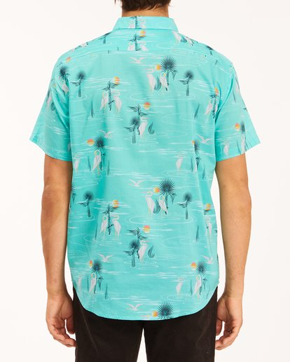 2 Sundays Floral Short Sleeve Shirt Grey ABYWT00113 Billabong