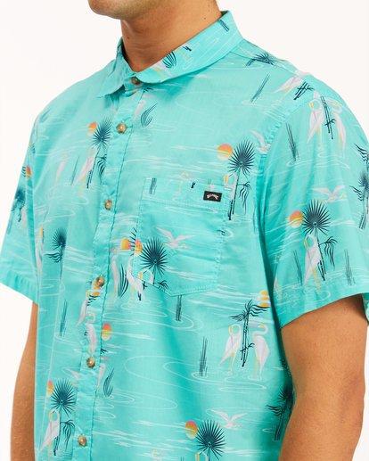 3 Sundays Floral Short Sleeve Shirt Grey ABYWT00113 Billabong