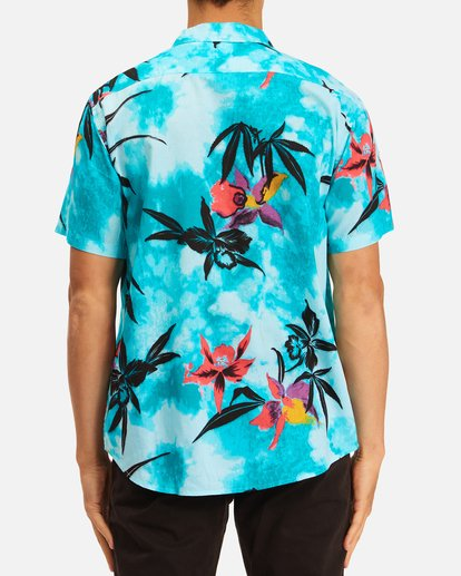 2 Sundays Floral Short Sleeve Shirt Blue ABYWT00113 Billabong