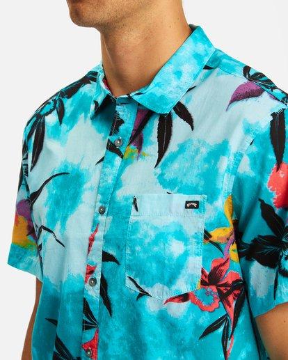 3 Sundays Floral Short Sleeve Shirt Blue ABYWT00113 Billabong