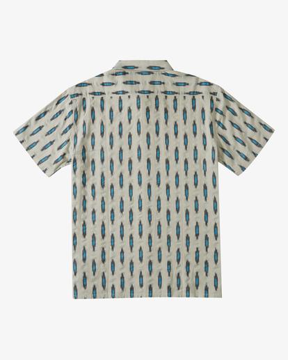 5 Sundays Jacquard Short Sleeve Shirt Grey ABYWT00114 Billabong