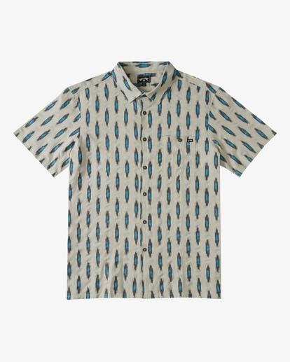 4 Sundays Jacquard Short Sleeve Shirt Grey ABYWT00114 Billabong