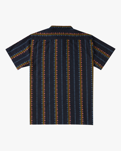 5 Sundays Jacquard Short Sleeve Shirt Blue ABYWT00114 Billabong