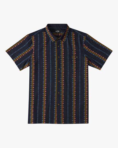 4 Sundays Jacquard Short Sleeve Shirt Blue ABYWT00114 Billabong