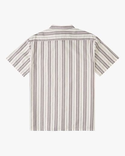 5 Sundays Jacquard Short Sleeve Shirt Beige ABYWT00114 Billabong
