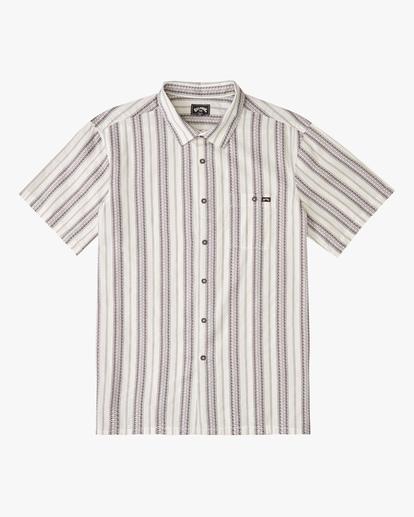 4 Sundays Jacquard Short Sleeve Shirt Beige ABYWT00114 Billabong