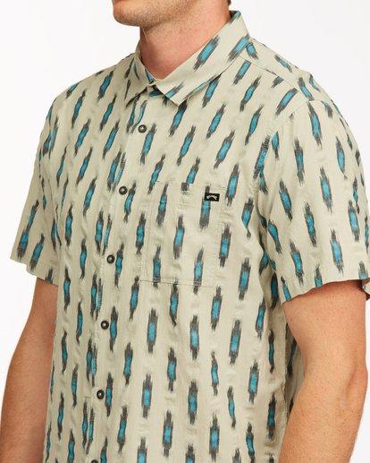 3 Sundays Jacquard Short Sleeve Shirt Grey ABYWT00114 Billabong