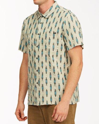 1 Sundays Jacquard Short Sleeve Shirt Grey ABYWT00114 Billabong