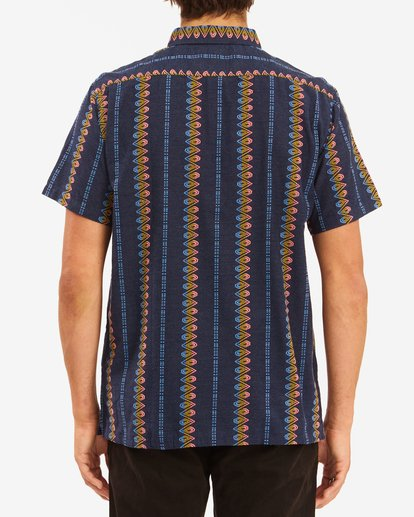 2 Sundays Jacquard Short Sleeve Shirt Blue ABYWT00114 Billabong