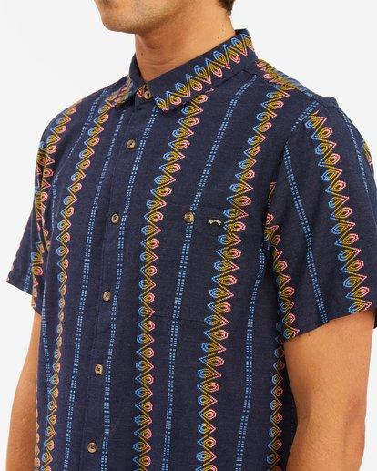 3 Sundays Jacquard Short Sleeve Shirt Blue ABYWT00114 Billabong