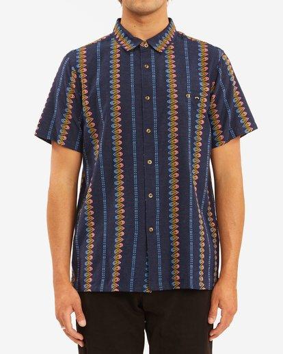 0 Sundays Jacquard Short Sleeve Shirt Blue ABYWT00114 Billabong