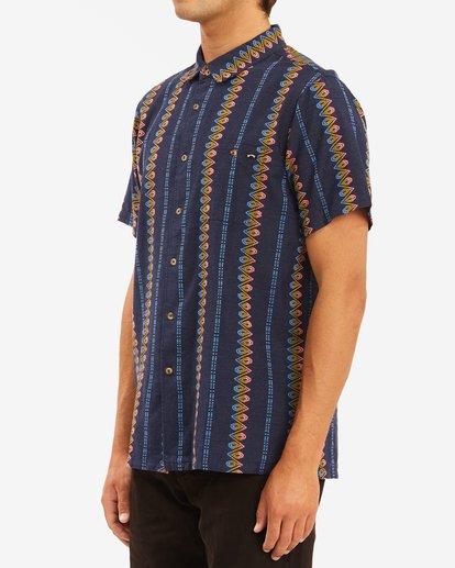 1 Sundays Jacquard Short Sleeve Shirt Blue ABYWT00114 Billabong