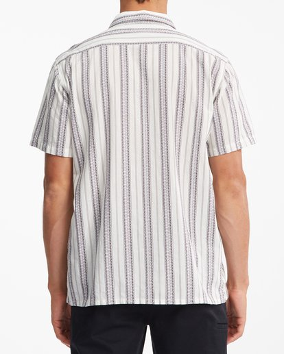 3 Sundays Jacquard Short Sleeve Shirt Beige ABYWT00114 Billabong