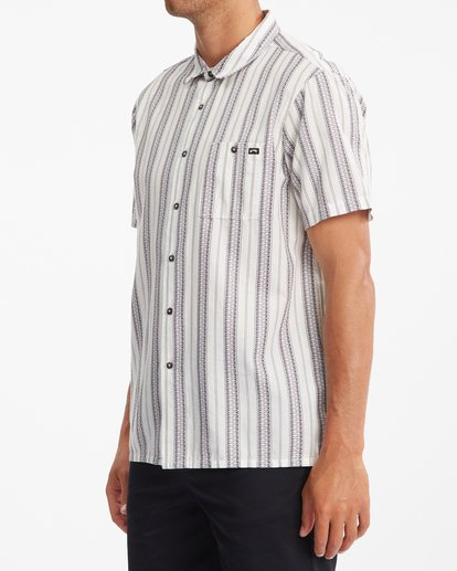 1 Sundays Jacquard Short Sleeve Shirt Beige ABYWT00114 Billabong