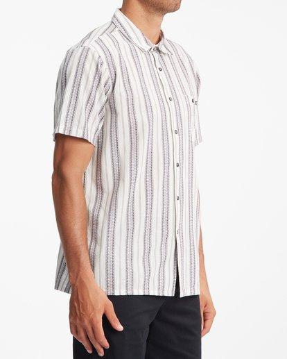2 Sundays Jacquard Short Sleeve Shirt Beige ABYWT00114 Billabong