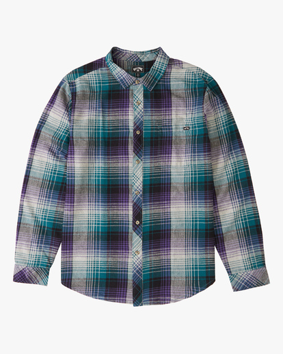 4 Coastline Flannel Shirt Orange ABYWT00116 Billabong