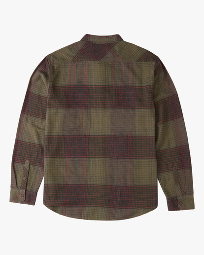 5 Coastline Flannel Shirt Green ABYWT00116 Billabong