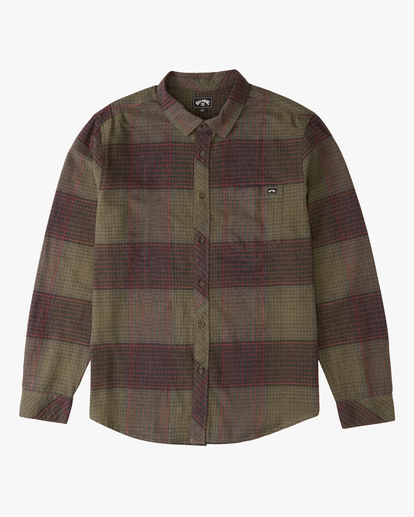 4 Coastline Flannel Shirt Green ABYWT00116 Billabong