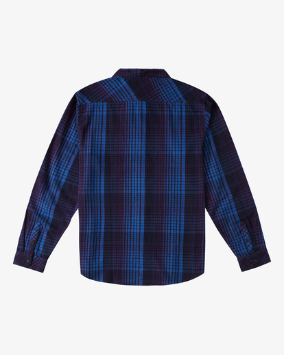 7 Coastline Flannel Shirt Blue ABYWT00116 Billabong