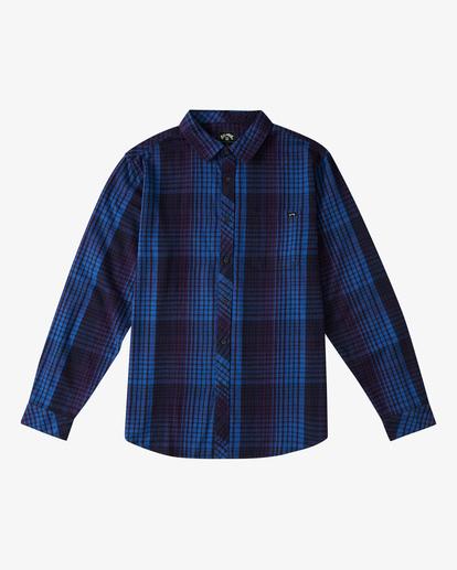 6 Coastline Flannel Shirt Blue ABYWT00116 Billabong