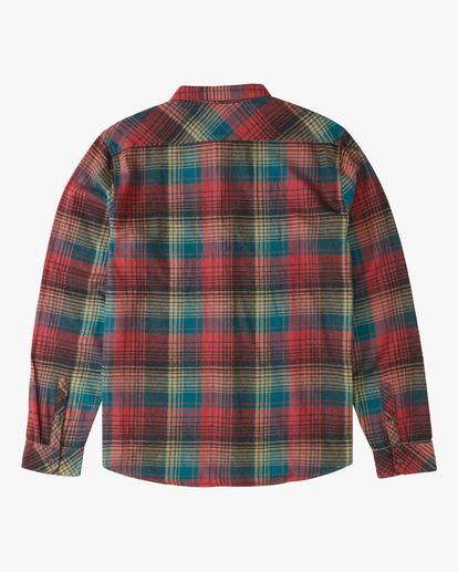 5 Coastline Flannel Shirt Red ABYWT00116 Billabong