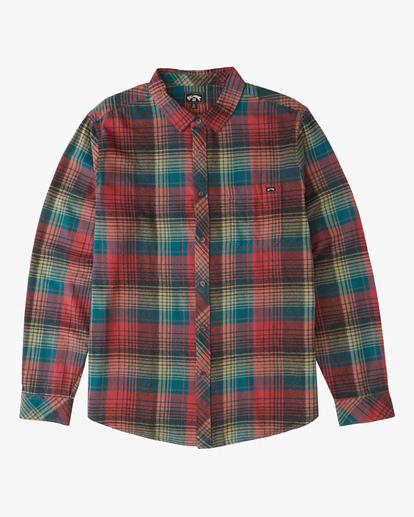 4 Coastline Flannel Shirt Red ABYWT00116 Billabong