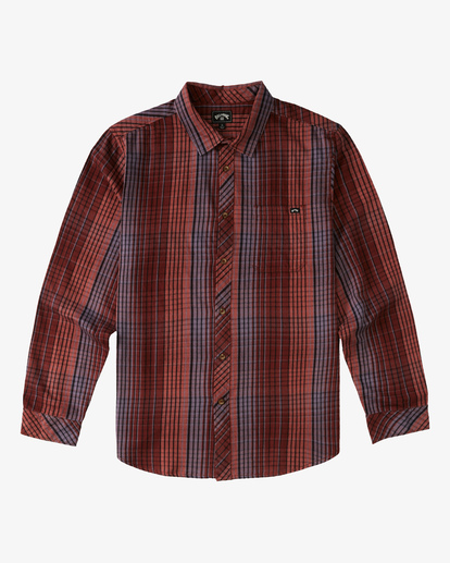 6 Coastline Flannel Shirt Green ABYWT00116 Billabong