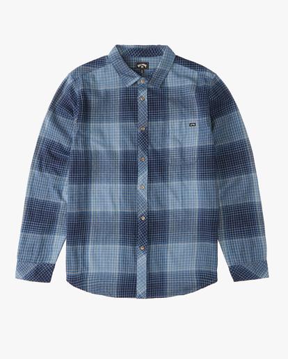 4 Coastline Flannel Shirt Blue ABYWT00116 Billabong