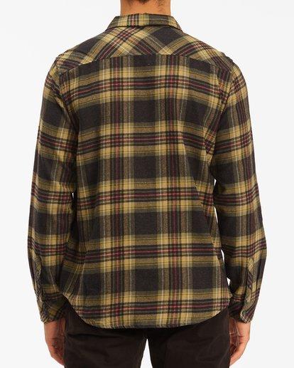 2 Coastline Flannel Shirt Black ABYWT00116 Billabong