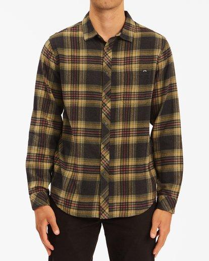 0 Coastline Flannel Shirt Black ABYWT00116 Billabong