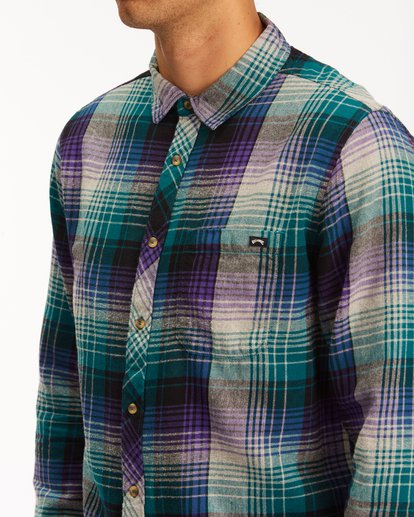 3 Coastline Flannel Shirt Orange ABYWT00116 Billabong