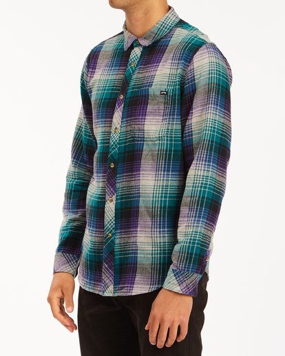 1 Coastline Flannel Shirt Orange ABYWT00116 Billabong