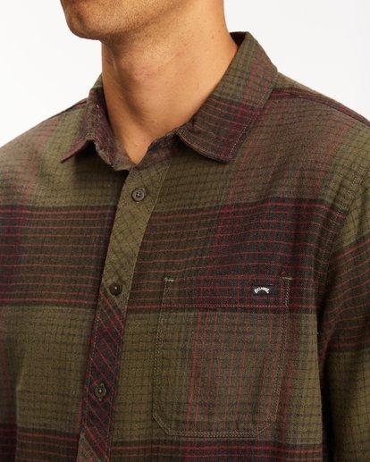 3 Coastline Flannel Shirt Green ABYWT00116 Billabong